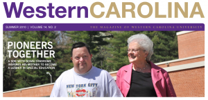 Jane and Billy Schulz, featured on the cover of Western Carolina, The Magazine of Western Carolina University