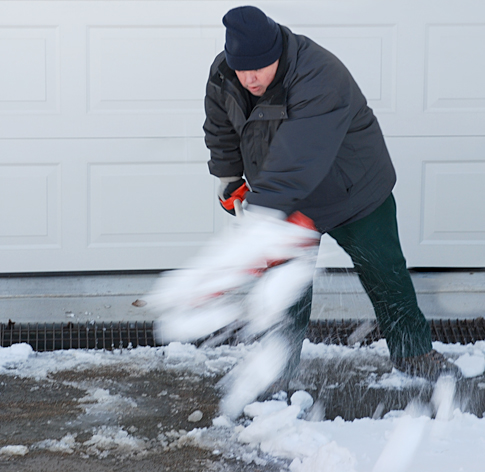 Billy Schulz Shovels Snow for His Mother