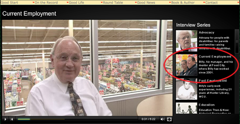 Interview with Mr. Ed Moore, Food City Manager